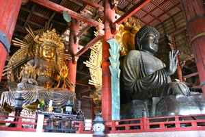 The Great Buddha at the Daibutsu-den Hall, Nara, Japan