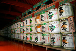 Drums with sake, in Tosho-gu